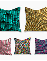 cheap -Checkered Board Geometric Double Side Cushion Cover 5PC Soft Decorative Square Throw Pillow Cover Cushion Case Pillowcase for Bedroom Livingroom Superior Quality Machine Washable Indoor Cushion for Sofa Couch Bed Chair