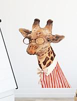 cheap -Cartoon Giraffe Wall Stickers Living Room Kids Room Kindergarten Removable PVC Home Decoration Wall Decal 1pc