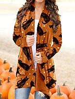 cheap -Cat Coat Cosplay Costume Adults' Women's Cartoon Halloween Party Halloween Halloween Carnival Masquerade Festival / Holiday Acrylic Fibers Orange Women's Easy Carnival Costumes Cartoon Stars