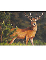 cheap -Christmas Wall Art Poster Prints Painting Artwork Picture HD Self Adhere Gift Classic Animal Lucky Elk Waterproof Home Decoration Decor Rolled Poster No Frame Unframed Unstretched