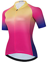 cheap -21Grams Women's Short Sleeve Cycling Jersey Summer Spandex Red / Yellow Gradient Bike Top Mountain Bike MTB Road Bike Cycling Quick Dry Moisture Wicking Sports Clothing Apparel / Stretchy