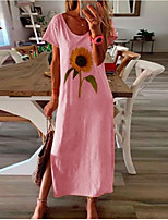 cheap -Women's Shift Dress Maxi long Dress Long sleeve-orange Long sleeve black Long sleeve white Long sleeve blue Long sleeve pink Long sleeve yellow Long sleeve-gray Long sleeve-brown Long sleeve-Khaki