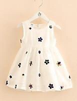 cheap -[90-140cm]girls embroidered sleeveless dress