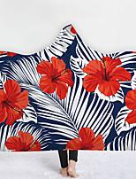 cheap -New Hooded Blanket Home Blanket Children Blanket Thicker Blanket Tropical Plant Fruit Series