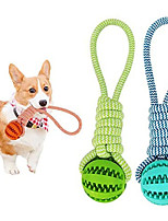 cheap -Chew Toy Dog Rope Toy Durable Rubber Ball Teeth Cleaning with Cotton Rope Molar Dog Bite Toy