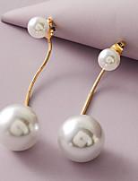 cheap -Women's Earrings Beads Stylish Simple Elegant Romantic Modern Imitation Pearl Earrings Jewelry White For Christmas New Baby Prom Promise Festival 1 Pair