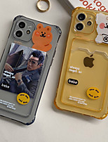cheap -Phone Case For Apple Back Cover iPhone 11 Pro Max SE 2020 X XR XS Max 8 7 6 Card Holder Shockproof Dustproof Cartoon Graphic TPU
