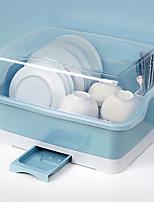 cheap -Dishware Storage Box with Lid Drain Rack Shelf for Bowl Box Household Kitchen Countertop Cupboard Dish Storage Rack