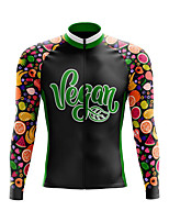 cheap -21Grams Men's Long Sleeve Cycling Jersey Spandex Polyester Black 3D Funny Fruit Bike Top Mountain Bike MTB Road Bike Cycling Quick Dry Moisture Wicking Breathable Sports Clothing Apparel / Stretchy
