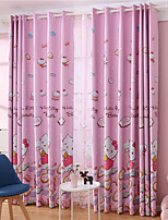 cheap -Window Curtain Window Treatments Pink 1Panels Room Darkening Grommet Rod Pocket Solid For Living Room Bed Room