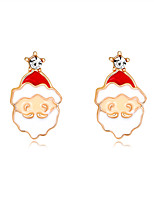 cheap -MISSING U Women's Drop Earrings Crystal Earrings 3D Holiday Santa Suits Fashion Earrings Jewelry White For Christmas Halloween Party Evening Gift Festival 1 Pair