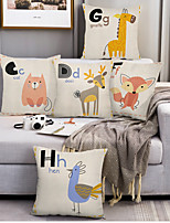 cheap -Cartoon Double Side Cushion Cover 5PC Soft Decorative Square Throw Pillow Cover Cushion Case Pillowcase for Bedroom Livingroom Superior Quality Machine Washable Indoor Cushion for Sofa Couch Bed Chair