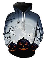 cheap -Cosplay Adults' Women's Halloween Festival Halloween Festival / Holiday Terylene White Women's Men's Easy Carnival Costumes Pumpkin / Hoodie