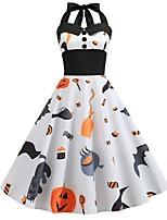 cheap -Santa Suit Pumpkin Women's Halloween Festival Halloween Festival / Holiday Terylene White Women's Easy Carnival Costumes Halloween / Dress