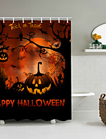 cheap -Halloween Shower Curtain Pumpkin Witch Scythe Party Background Bathroom Home Decor Waterproof Contains Hook