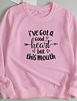 cheap -Women's Pullover Sweatshirt Slogan Letter Print Casual Hot Stamping Casual Hoodies Sweatshirts  Loose Wine Red Blushing Pink Red
