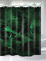cheap -Flowers And Green Leaves Series Digital Printing Shower Curtain Shower Curtains  Hooks Modern Polyester New Design