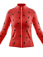 cheap -21Grams Women's Long Sleeve Cycling Jersey Spandex Polyester Red Polka Dot Funny Bike Top Mountain Bike MTB Road Bike Cycling Quick Dry Moisture Wicking Breathable Sports Clothing Apparel / Stretchy