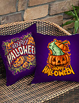 cheap -Halloween Double Side Cushion Cover 2PC Soft Decorative Square Throw Pillow Cover Cushion Case Pillowcase for Bedroom Livingroom Superior Quality Machine Washable Indoor Cushion for Sofa Couch Bed Chair