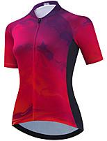 cheap -21Grams Women's Short Sleeve Cycling Jersey Summer Spandex Fuchsia Bike Top Mountain Bike MTB Road Bike Cycling Quick Dry Moisture Wicking Sports Clothing Apparel / Stretchy / Athleisure