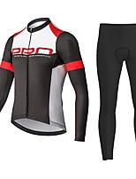 cheap -21Grams Men's Long Sleeve Cycling Jersey with Tights Summer Spandex Black+White Polka Dot Bike Quick Dry Moisture Wicking Sports Polka Dot Mountain Bike MTB Road Bike Cycling Clothing Apparel