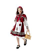 cheap -Little Red Riding Hood Dress Kid's Girls' Halloween Halloween Halloween Children's Day Masquerade Festival / Holiday Terylene Red Easy Carnival Costumes Plaid / Check / Cloak