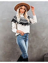 cheap -Women's Pullover Tassel Abstract Casual Long Sleeve Sweater Cardigans Turtleneck Fall Winter Black / Going out