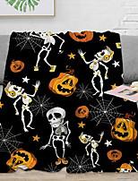 cheap -Halloween collection 3D digital printed square flannel blanket double velveteen children's cover blanket shawl sitting blanket