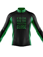 cheap -21Grams Men's Long Sleeve Cycling Jersey Spandex Polyester Red Green White Funny Bike Top Mountain Bike MTB Road Bike Cycling Quick Dry Moisture Wicking Breathable Sports Clothing Apparel