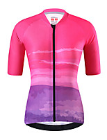 cheap -21Grams Women's Short Sleeve Cycling Jersey Summer Spandex Pink Bike Top Mountain Bike MTB Road Bike Cycling Quick Dry Moisture Wicking Sports Clothing Apparel / Stretchy / Athleisure