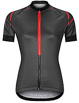 cheap -21Grams Women's Short Sleeve Cycling Jersey Summer Spandex Black Stripes Bike Top Mountain Bike MTB Road Bike Cycling Quick Dry Moisture Wicking Sports Clothing Apparel / Stretchy / Athleisure