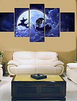 cheap -Christmas Santa ClausWall Art Canvas Prints Painting Artwork Picture Home Decoration Decor Rolled Canvas No Frame Unframed Unstretched