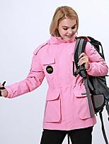 cheap -Women's Hiking Down Jacket Hiking 3-in-1 Jackets Ski Jacket Winter Outdoor Thermal Warm Windproof Lightweight Breathable Outerwear Windbreaker Trench Coat Skiing Fishing Climbing Black women Pink