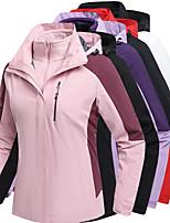 cheap -Women's Hiking 3-in-1 Jackets Ski Jacket Hiking Fleece Jacket Polar Fleece Winter Outdoor Patchwork Thermal Warm Waterproof Windproof Fleece Lining Hoodie Windbreaker Trench Coat Full Length Hidden