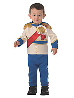 cheap -Prince Cosplay Costume Kid's Adults' Boys' Cosplay Halloween Halloween Children's Day Festival / Holiday Terylene Blue Easy Carnival Costumes Solid Color