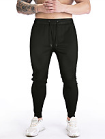 cheap -Men's Casual / Sporty Jogger Chinos Sweatpants Trousers Pants Solid Color Black Dark Gray
