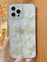 cheap -Phone Case For Apple Back Cover iPhone 12 Pro Max 11 SE 2020 X XR XS Max 8 7 Shockproof Dustproof Butterfly Transparent TPU
