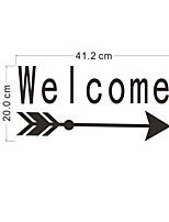 cheap -2 sheets hello and welcome wall decals vinyl quote art home decor for door decal
