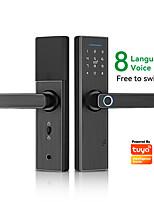 cheap -X1 Aluminium alloy Intelligent Lock Smart Home Security System Fingerprint unlocking / Password unlocking / Mechanical key unlocking Home Security Door (Unlocking Mode Fingerprint / Password