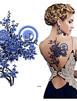 cheap -3 Pcs Tattoo Stickers Temporary Tattoos Flower Series Body Arts Shoulder Back