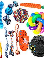 cheap -Dog Toys Plush Dog Squeaky Toys Rope Dog Toy Dog Chew Toys Dog Toys for Medium Large Small Dogs Puppy Toys Dog Ball Dog