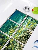 cheap -3D Underwater World Waterproof Twill Floor Sticker Bathtub Anti-slip Mat Waterproof Bathtub Self-adhesive Paper