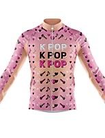 cheap -21Grams Men's Long Sleeve Cycling Jersey Spandex Polyester Pink Funny Bike Top Mountain Bike MTB Road Bike Cycling Quick Dry Moisture Wicking Breathable Sports Clothing Apparel / Athleisure