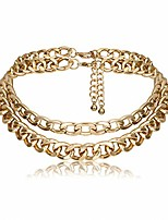 cheap -punk cuban link chain choker necklace gold chunky curb chain link choker boho jewelry for women and girls