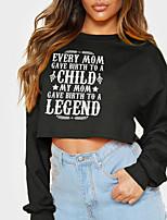 cheap -Women's Sweatshirt Crop Top Text Slogan Monograms Crop Top Casual Sports Hot Stamping Cotton Active Streetwear Hoodies Sweatshirts  Yellow Black