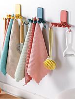 cheap -Flower-shaped Rag Rack Kitchen with Hook Storage Organizer Wall-mounted Free Punching Spatula Spoon Rack Towel Rack