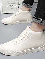 cheap -Men's Sneakers Vintage British Daily Outdoor Leather Breathable Shock Absorbing Wear Proof White Black Beige Fall Spring