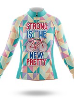 cheap -21Grams Women's Long Sleeve Cycling Jersey Spandex Polyester Blue Funny Bike Top Mountain Bike MTB Road Bike Cycling Quick Dry Moisture Wicking Breathable Sports Clothing Apparel / Stretchy