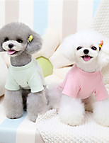 cheap -Dog Cat Sweatshirt Solid Colored Fruit Cute Sweet Dailywear Casual / Daily Winter Dog Clothes Puppy Clothes Dog Outfits Warm Purple Yellow Pink Costume for Girl and Boy Dog Plush S M L XL XXL