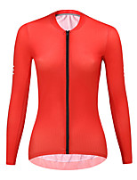 cheap -21Grams Women's Long Sleeve Cycling Jersey Spandex Red Blue Green Solid Color Bike Top Mountain Bike MTB Road Bike Cycling Quick Dry Moisture Wicking Sports Clothing Apparel / Stretchy / Athleisure